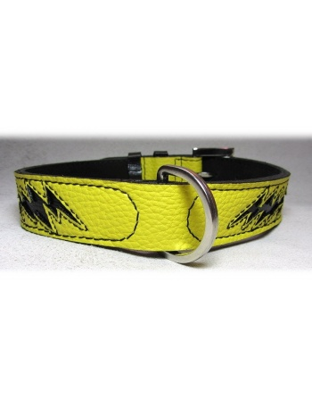 """Energy shock"" Dog Leather Collar"