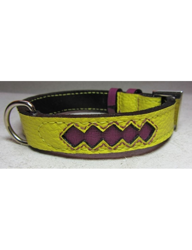 Ruby Star Dog Leather collar
