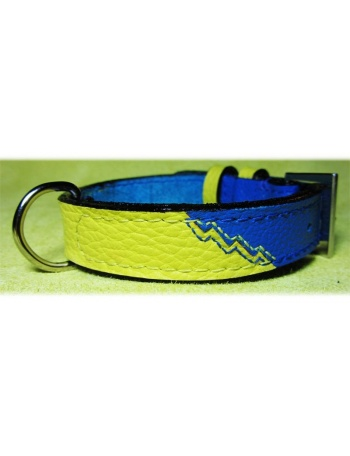 """Dreaming of summer"" Dog leather collar"