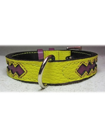 """Ruby Star"" Dog Leather collar"