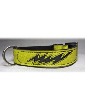 """Energy shock"" Dog Leather Collar"