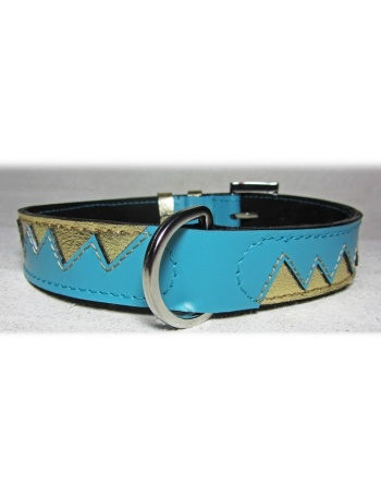 """Golden Dragon Teeth"" Dog Leather Collar"