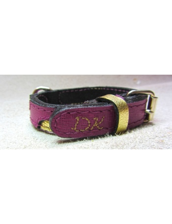"""Golden Spots"" Dog Leather Collar"
