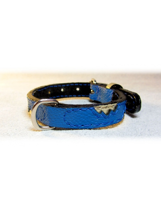 """Golden Peaks"" Dog Leather Collar"