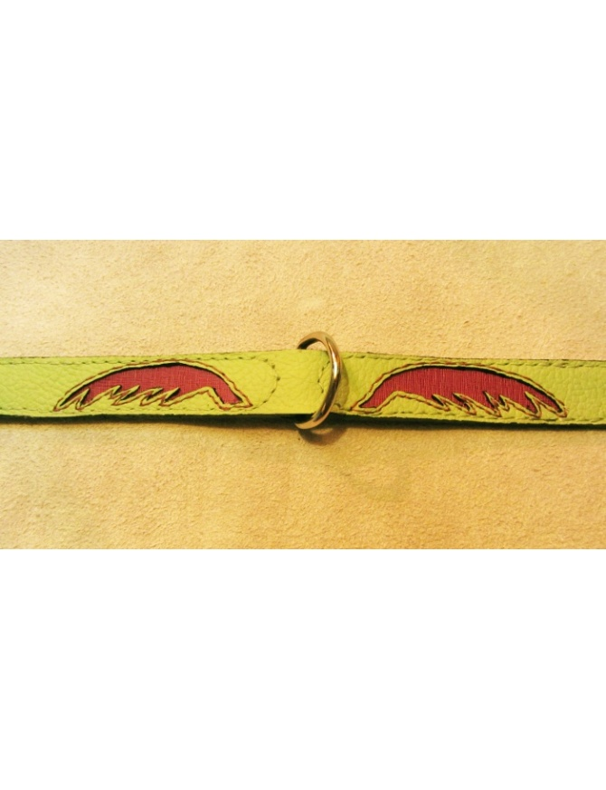 """Magic Wings"" Unique dog leather collar"