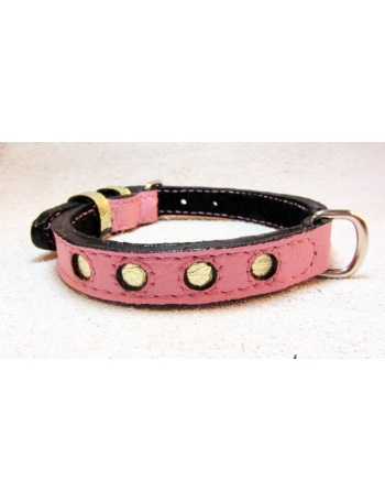 """Magic Night in Paris"" Dog Leather Collar"