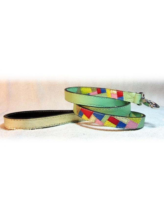 """Spring Fashion Mosaic"" - Ročno izdelan usnjen povodec za psa"