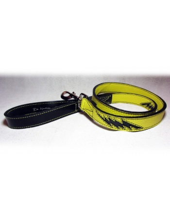 """Enery shock"" - Hand made dog leather lead"