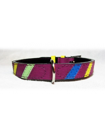 """Lollipop"" - Unique Dog Leather Collar"