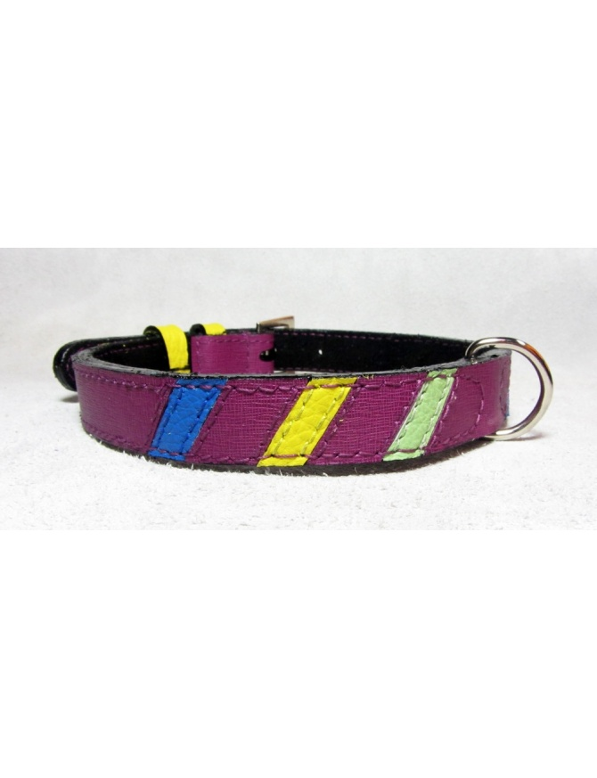 """Lollipop"" - Unique leather dog collar"