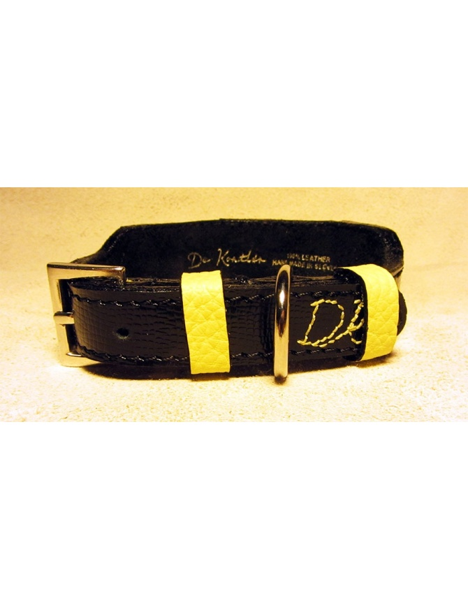 """Yellow Jaw"" Unique dog leather collar"