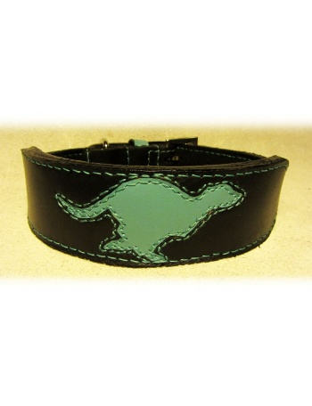"""Black Runner"" - Dog leather Collar"