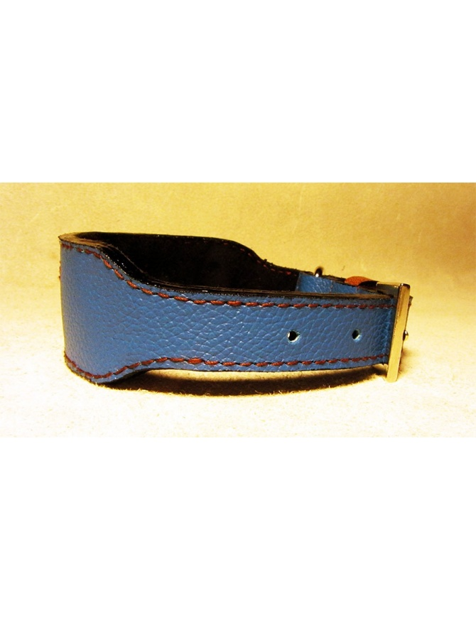 """Blue Runner"" - Unique Dog Leather Collar"