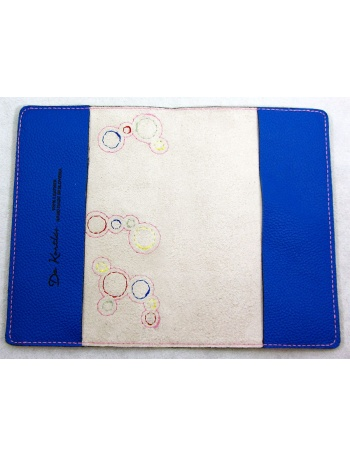 """ Bubbles Explosion "" - Cute pet leather passport cover"