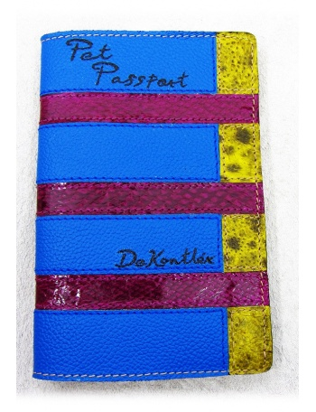 """ Pearl Diving "" Pet leather passport cover"