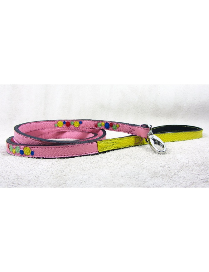 """Bubbles Explosion"" - Handmade Dog Leather Lead"