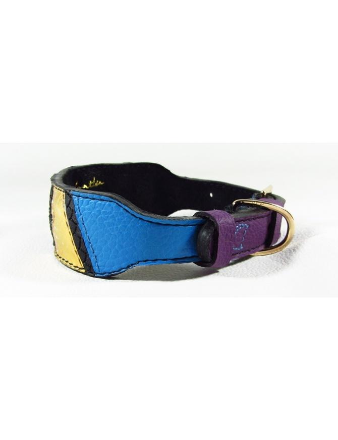 """""""Salmon spirit"""" - unique leather dog collar"""