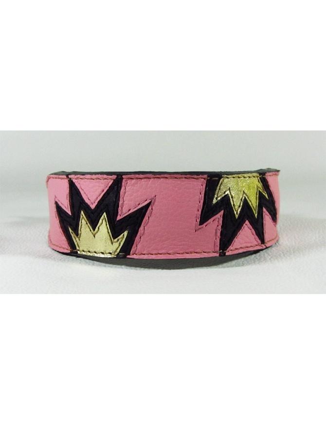 """Princess crown"" - moderna usnjena pasja ovratnica"