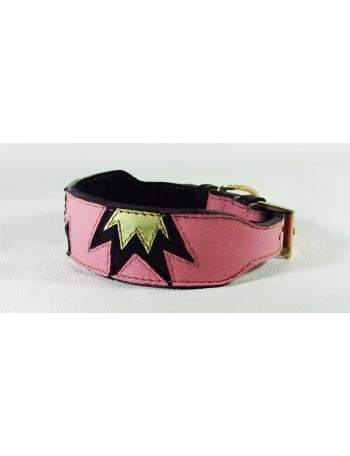 """ Princess crown"" - fashion leather dog collar"