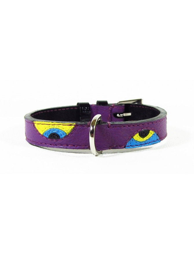 """""""Curious eyes"""" - handmade dog leather collar"""