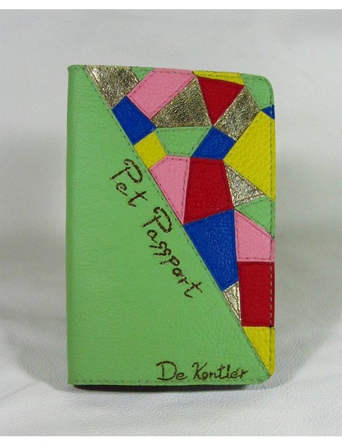 """Spring fashion mosaic"" - unikaten ovitek za potni list hišnih živali"