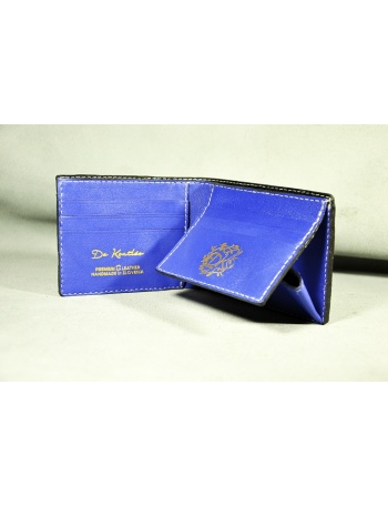 "Men leather coin wallet - ""Dark style"""