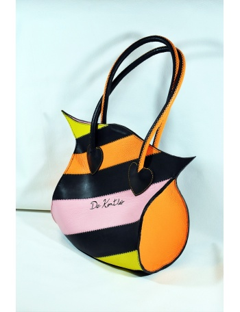 "Women leather bag - ""Oriental lily"""
