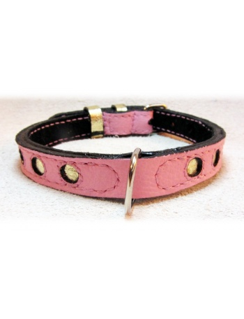 """""""Magic Night in Paris"""" Dog Leather Collar"""