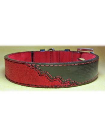 """Earthquake"" Dog Leather Collar"